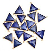 Gold Platted Silver Bazel Lapis Lazuli Connector Gemstone Suppliers Finding