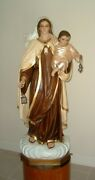 Our Lady Of Mount Carmel Blessed Virgin Mother Mary 50 Inch Indoor And Out Statue