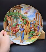 + Authentic Collector Plate By Yiannis Koutsis + And039jobs Reward + Ix Of Xii 826