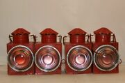 Vintage Old Traditional Lantern Railway Signal Sign Collectible Oil Lamp Red