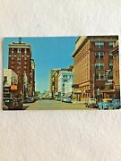 Wichita Falls Texas Postcard Eighth St Lookingg West Old Cars Store Signs Hotel