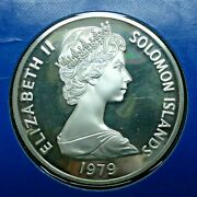 1979 10 Solomon Islands Sterling Silver Proof Coin Box And Coa Franklin Mint