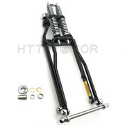 26 New 4 Over Stock Black Springer Front End W/ Axle Kit For Harley And Custom