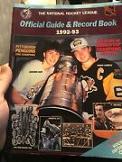 Nhl Official Guide And Record Book 1992-93 Jagr Lemieux Cover Used Condition