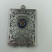Antique Alfred Schickerling Ny Sterling Silver Picture Locket Bpoe Elks Lodge