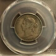 1886 Canada .25 Cents Coin Graded By Pcgs And Graded Vf20