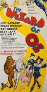 The Wizard Of Oz 3 Sheet Vintage Judy Garland Movie Poster Lithograph S2 Art
