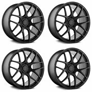 19 Avant Garde M610 Black 19x8.5 19x9.5 Wheels Rims Fits Benz Slk280 Slk350