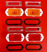 1969 Chevelle Ss Front And Rear Side Marker Light Lens Gaskets And Chrome Bezel Kit