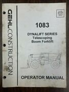 Gehl 1083 Dynalift Telescopic Boom Forklift Owner Operator Manual 907337