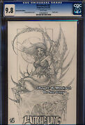 Cgc 9.8 Witchblade 87, Rare Romano Sketch Variant Ltd To 99 Highest 1 Of 1