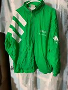 Vintage Adidas Three Stripes Green Lined Track Jacket Xl The Long Green Line