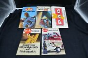 Group Of 5 Vtg Advertising Pag And Pride Seedcorn Notebooks, 1970s, Product Info