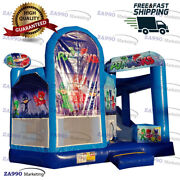 16x16ft Commercial Inflatable Pj Masks Bounce House And Slide With Air Blower