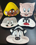 Wb Looney Toons Face Ceramic Wall Plates Vintage Collection 5 Pieces