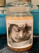 Yankee Candle 22 Oz Angel Watching Over You Me- Very Rare White Label Vhtf
