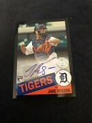 2020 Topps Series 1 Jake Rogers 1985 Topps Autograph Black 135/199 Tigers Rc