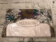 Fab Missoni Mombasa Pair White Floral Print Std/queen Pillowcases Made In Italy