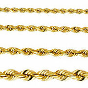 Heavy Large Rope Necklace Genuine 14k Yellow Gold Solid Chain Cadena Oro Collar