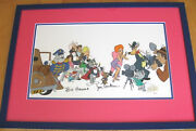 Hanna Barbera Tom And Jerry And Host Of 1940 Mgm Characters Signed Red Hot Cel