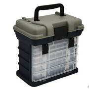 Tackle Box 4 Removable Tackle Tray System With Top Bulk Storage Fishing