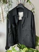 Song For The Mute X Sven Vath Am/pm Worker Jacket - Brand New Size 48 - Black