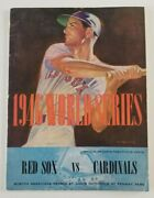 Red Sox Vs St Louis Cardinals Vintage 1946 World Series Program Ted Williams