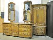 Thomasville French Country Parquet Dresser Mirrors And Cabinet Mint 1960and039s