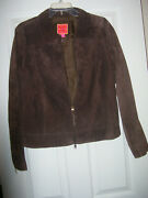 Brown Suede Jackets And Skirt Isaac Mizrahi