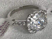 Lia Sophia Stunner Ring Size 7 Silver Tone Breathtaking Rare Cz Accents Must See