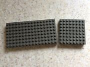 Lego Old Dark Gray Base Foundation Plate 4201 And 4204 8x8 8x6 Roof Floor Vintage