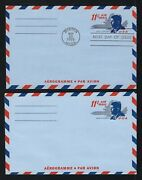 President John F. Kennedy Jfk Set Of 2 Us Aerogramme Stamp First Day Covers Mint