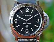 Pam 000 Luminor Base W Black Logo Dial 44mm Box And Papers