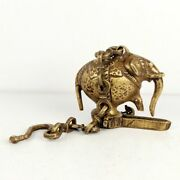 Vintage Brass Oil Lamp Sand Casting Traditional Elephant Hanging Chain Lamp