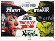 Two Rode Together 1961 Reproduction Print Uk Stewart Quad Poster John Ford