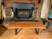 Live Edge Cherry Coffee Table With Steel Legs..
