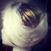 Swan Lake Feather Headband Handmade White Feather Headpiece For Adults