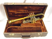 Martin Magna Professional C Trumpet Elkhart Indiana Lacquered Brass Rare