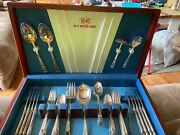 1847 Rogers Bros Silverware Eternally Yours 53 Pieces In Box