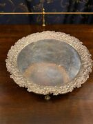 """S. Kirk And Son Sterling Silver 11"""" Footed Tray/salver With Ball And Claw Feet"""