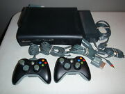 Xbox 360 Elite System Console 120 Gb W/two Controllers Wireless Adapter