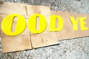 And039good Yearand039 Porcelain Sign Letters Partial Set