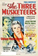 The Three Musketeers 1933 Reproduction Us Action Poster Clark,armand