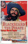 Blackbeard, The Pirate 1953 Reproduction Print Us Adventure Poster Raoul Walsh
