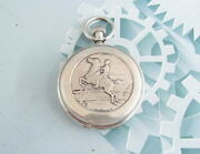Pavel Bure Antique Prize Pocket Watch For Races Silver 84 Samples Russian Empire