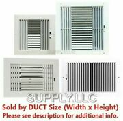 Air Register Plastic Vent Cover Grille Ac Wall Sidewall Ceiling White