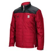 Nc State Wolfpack Ncaa Adidas Menand039s Climastorm Red Sideline Transition Jacket