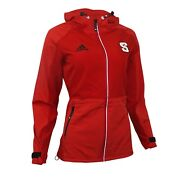 Nc State Wolfpack Ncaa Adidas Womenand039s Climalite Red Modern Varsity 2.0 Jacket