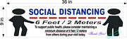 New Social Distancing Floor Decal + Free Counter Top Sign 2 Sizes Personal Space