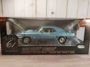 Highway 61 1969 Chevy Camaro Ss 350 And03969 Blue 118 Scale Diecast Model Car